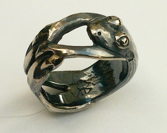 """Ring """"Frog"""", Sterling Silver 925, cast."""