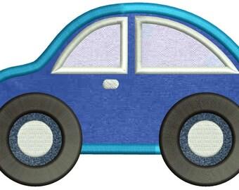 Car Applique Embroidery Design 3 sizes instant download