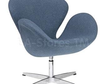 Arne Jacobsen Inspired Swan Chair by Aeon Furniture CH7221 - Medium Gray Fabric Ray 1003 - Arne Jacobsen Swan Chair - Swan Chair