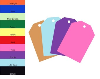 25 Pack - Solid Color Gift Tags, 2x3 inch Gift Tags, Party Gift Tags