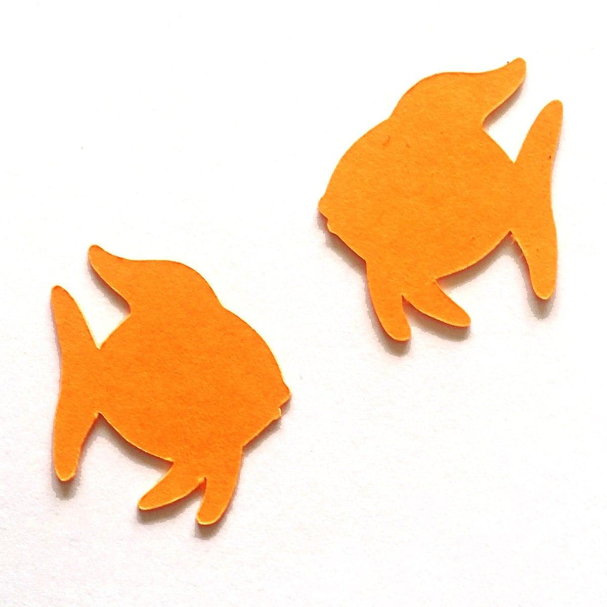 25 pack paper fish shape fish die cut fish cut outs paper