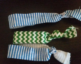 Striped and Chevron Hair Ties