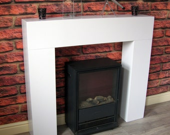 Modern Chunky White Box Fire Surround