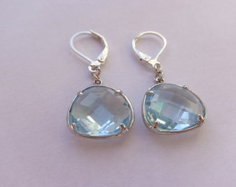 Earrings pearls in glass