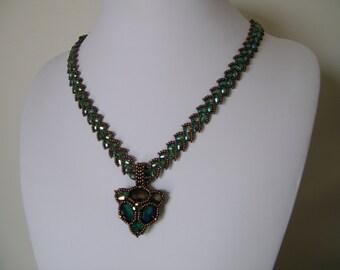 Handmade beadwoven Necklace