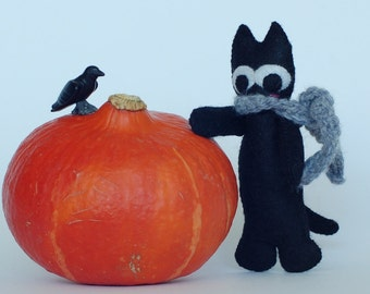 Voodoo black cat doll