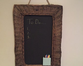 Wicker Blackboard Chalkboard