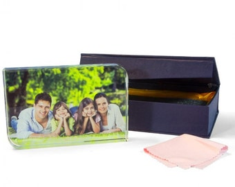 Custom Glass Photo Block Gift Present