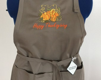 Embroidered Thanksgiving Holiday Apron