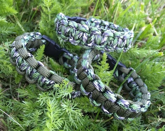 Bracelet Paracord Camouflage green and khaki