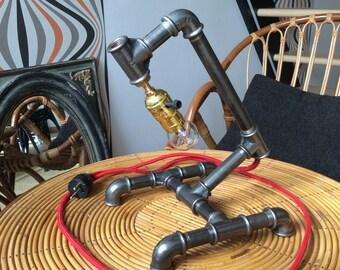 Cast iron lamp etsy - Lampes industrielles anciennes ...