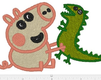 Peppa pig machine embrooidery design xxx  ,pcs, pes, jef,hus, exp,dst,sew
