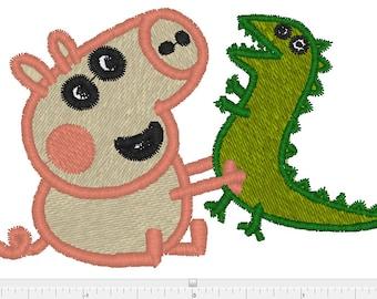 Peppa pig machine embrooidery design xxx  ,pcs, pes, jef,hus, exp,dst,sew