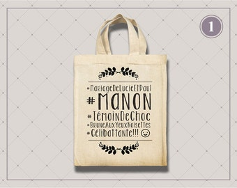 Small Tote Bag, best man - 4 designs
