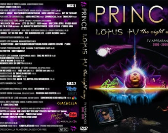PRINCE LOTUS TV 2 dvdr set (tv appearances from 2009)