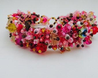 Handmade Confetti Beaded Guatemalan Bracelet