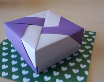 Origami box maxi lilac-purple