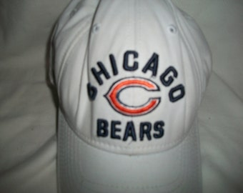 Vintage 90s Chicago Bears Cotton Embroidered Adjustable Hat/Cap One Size
