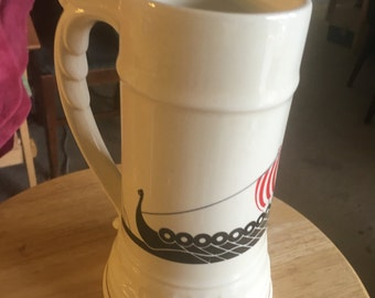 American (likely) Beer Stein with Viking Ship