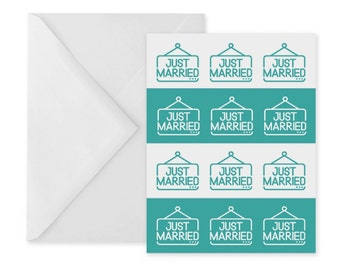 Wedding greetings card – just married card – congratulations card – card for married couple – A6 greetings card