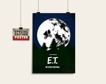 E.T. Poster Print, ET movie poster, Alternative poster, Movie poster, Digital poster, Instant download, Wall art print, Film print