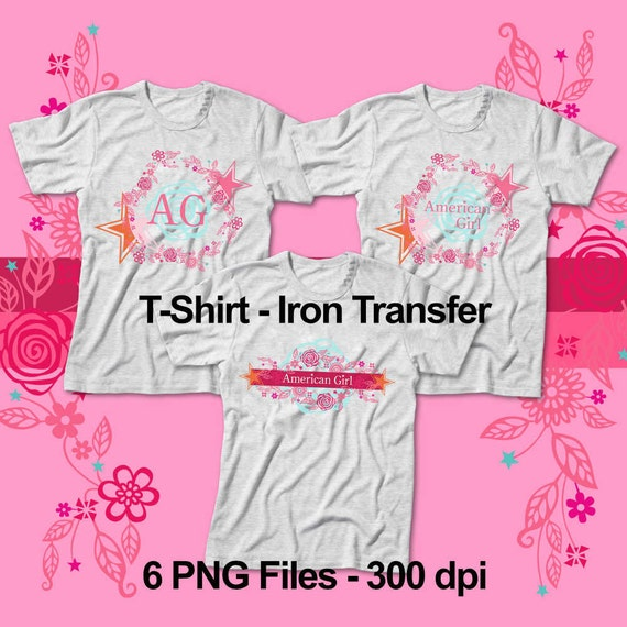American little girl t shirt iron transfer 6 designs for Free t shirt transfer templates
