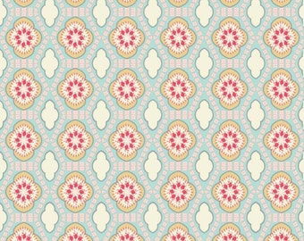 Mint Quilting Fabric - Chatsworth Tile Mint by Riley Blake