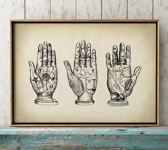 PALMISTRY PRINT Palmistry Art Poster Chiromancy Print