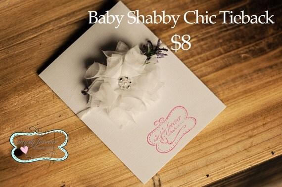 Baby Girl Shabby Chic Tieback Photography Prop, Newborn Girl Handmade Photography Props, Girl headbands
