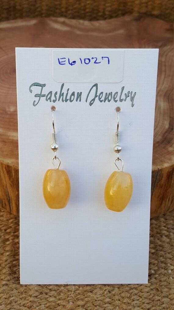 Yellow Carnelian Earrings / Yellow Carnelian Stone Earrings / Carnelian Earrings / Dangle Earrings / Hippie Earrings / Boho Jewelry /E61027