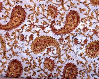 Indian Hand Block Printed Cotton Fabric-5 Yard