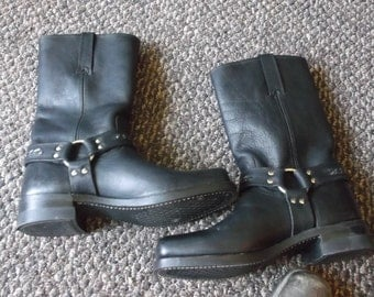 Frye Harness Boots with CHAIN Harness Motorcycle Boots Biker Boots