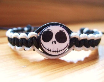 Jack Skellington Inspired Friendship Bracelet