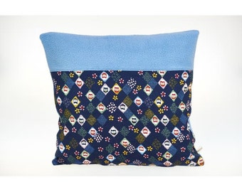 Soft Cushion cover for child in cotton and polar, washable, little owls.