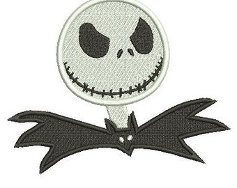 Jack Skellington Nightmare Before Christmas Embroidery Design Fill Stitch 3 sizes instant download