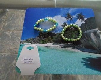 Handmade Pearl Elastic Bracelets