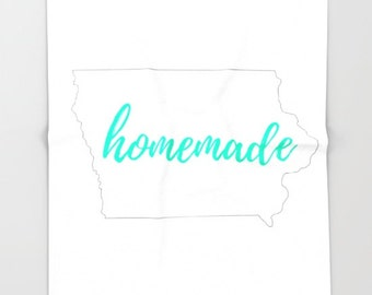 Mint Home Decor, State of Iowa, Iowa Outline, Homemade Slogan, Customized Blanket, State Pride, Iowa State Outline, From Iowa, Home State