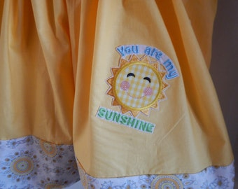 You are my Sunshine, bright and colorful button dress