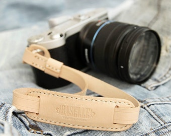 Handmade Natural Vegetable Tanned Camera Leather Strap for Digital Mirrorless Dslr
