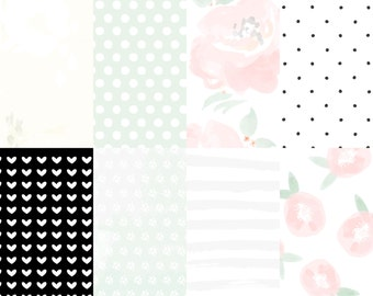 Molly Rose Add-On Printable Digital Papers Pack