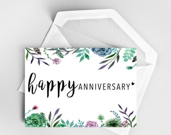 Anniversary Card, Pretty Card, Card for Her, Card for Him, Love Card, Greeting Card, The Flower One