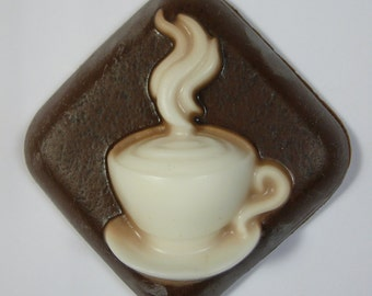 Chocolate Coffee Cup Handmade Soap