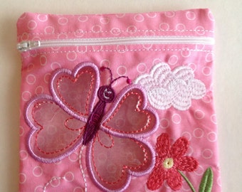 Butterfly reusable snack bag