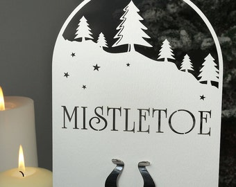Customised Christmas Table Name Winter Wonderland Design (Each)