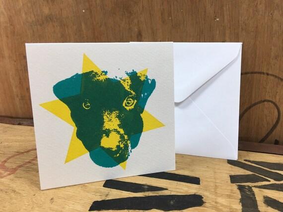 Monty • Black Labrador Card • Labrador Screen Print • Labrador Art • Labrador Greeting Card • Labrador Birthday Card • Card For Dog Lovers