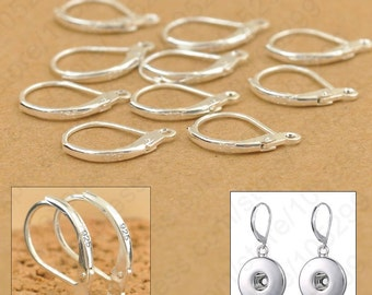 925 Sterling Silver Leverback French Hook Earwire Earring Findings