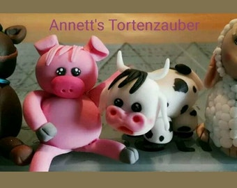 Cake topper farm animals