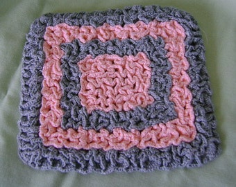 Crocheted Pot Holder From Vintage Pattern