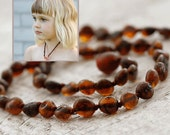 """RAW Amber Teething Necklace 