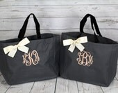 5 Personalized Bridesmaid Gift Tote Bags Monogrammed Tote, Bridesmaid Tote, Personalized Tote, Bridesmaids Gift, Bridesmaid Gift Set